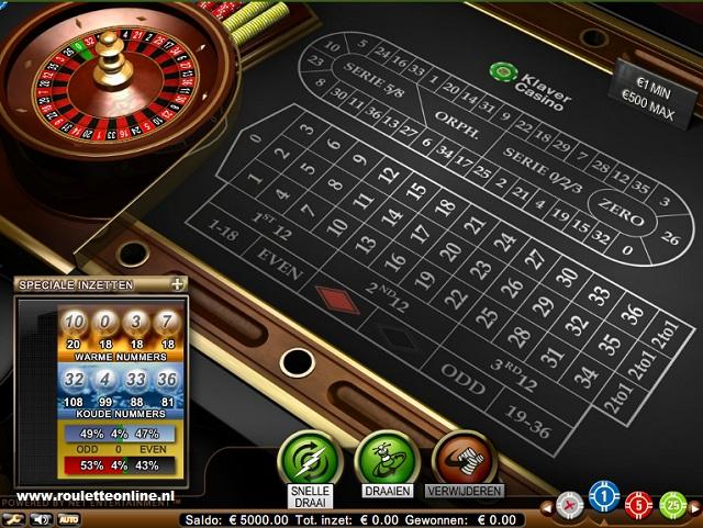 Klaver casino Roulette 640