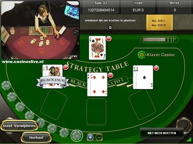 Klaver live blackjack